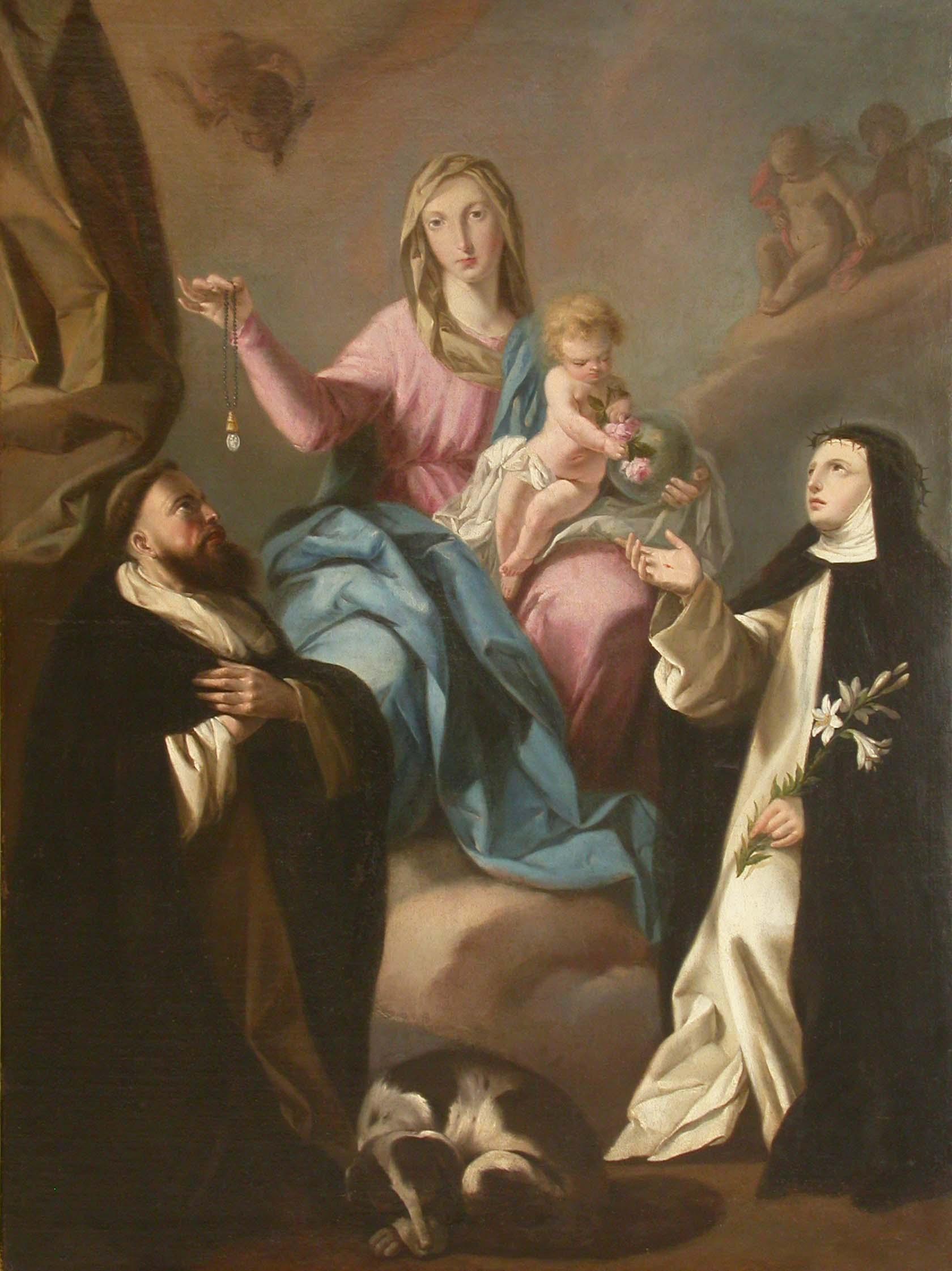 """Fray Antonio de Villanueva """"La Virgen del Rosario con San Domingo ..."""