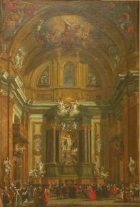Vista de la capilla de San Ignacio de il Gesú