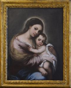 Virgen con el Niño Jesús de J. S. Gutiérrez